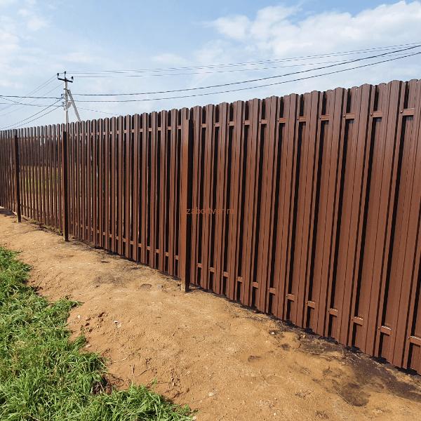 Забор из евроштакетника в Твери